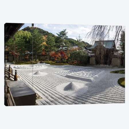 Zen Garden At Kodaiji Temple, Kyoti Prefecture, Japan Canvas Print #PIM15072} by Panoramic Images Canvas Art Print