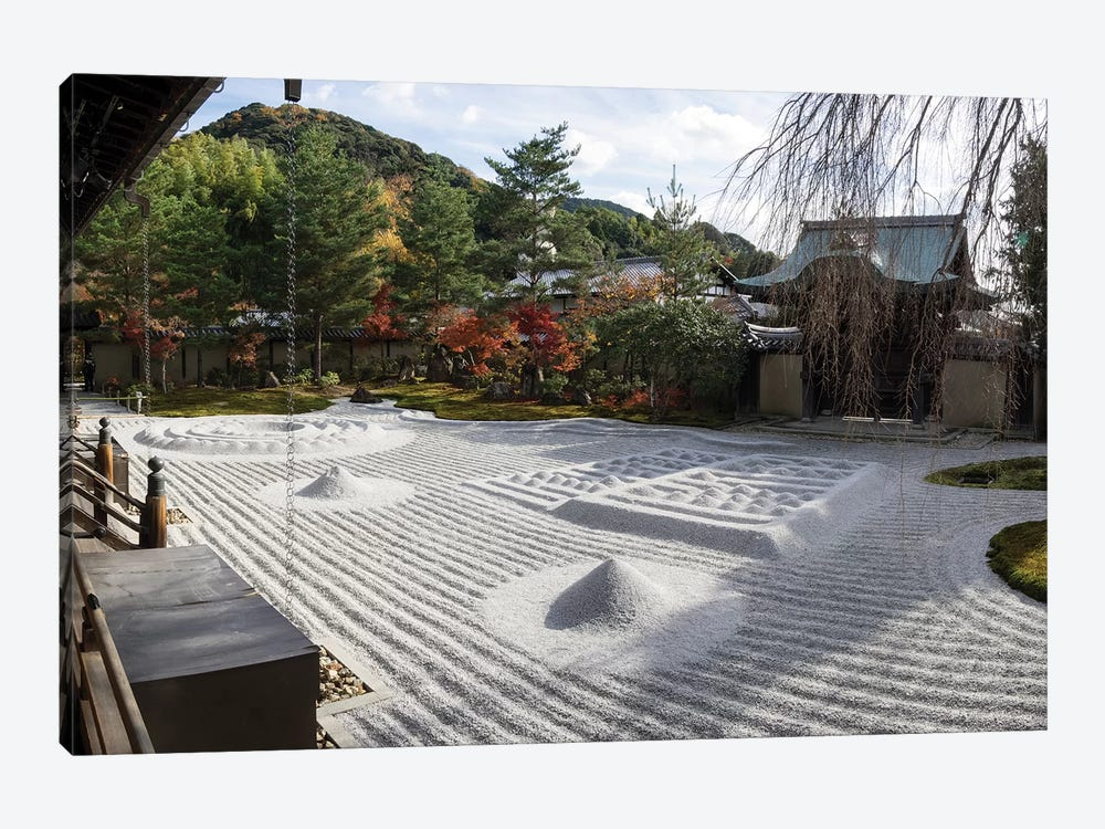 Zen Garden At Kodaiji Temple, Kyoti Prefecture, Japan 1-piece Canvas Print