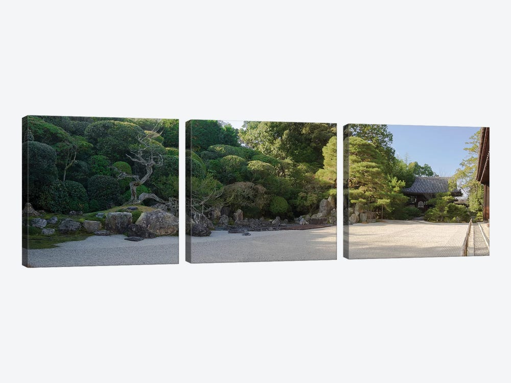 Zen Garden At Konchi-In Temple, Kyoti Prefecture, Japan by Panoramic Images 3-piece Canvas Art