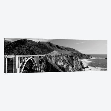 Bixby Creek Bridge, Big Sur, California, USA 3-Piece Canvas #PIM15084} by Panoramic Images Art Print