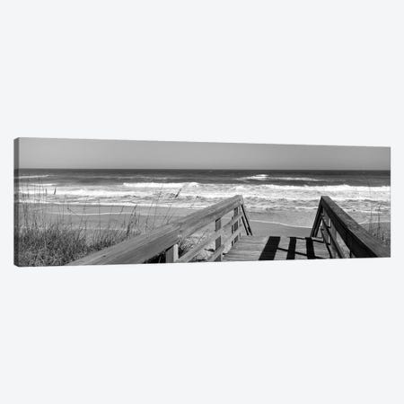 Boardwalk Leading Towards A Beach, Playlinda Beach, Canaveral National Seashore, Titusville, Florida, USA Canvas Print #PIM15085} by Panoramic Images Art Print