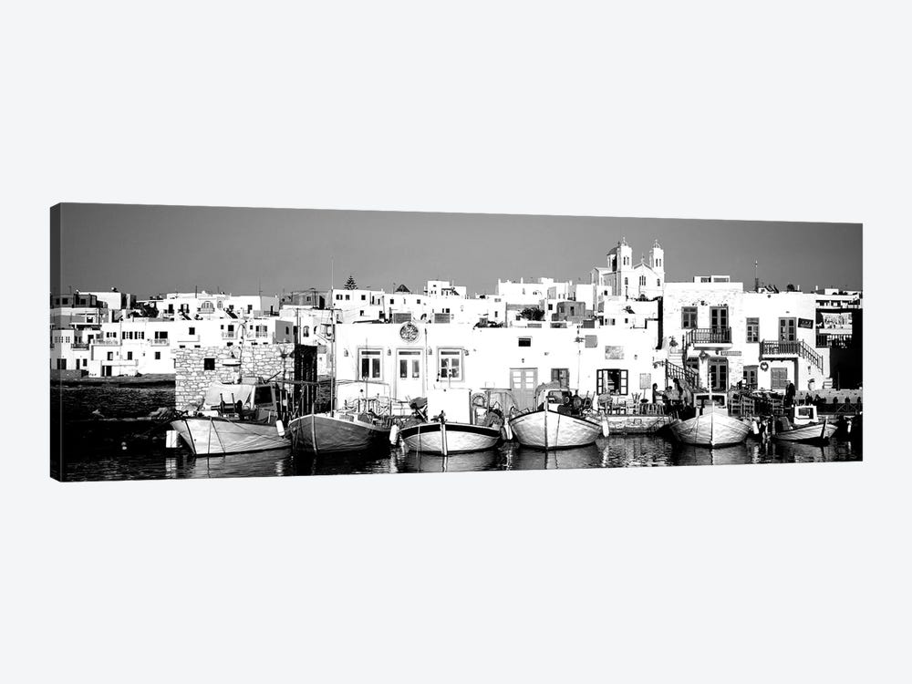 Boats At The Waterfront, Paros, Cyclades Islands, Greece by Panoramic Images 1-piece Art Print