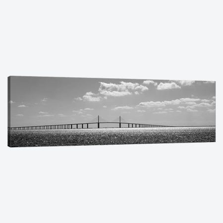 Bridge Across A Bay, Sunshine Skyway Bridge, Tampa Bay, Florida, USA Canvas Print #PIM15089} by Panoramic Images Canvas Art