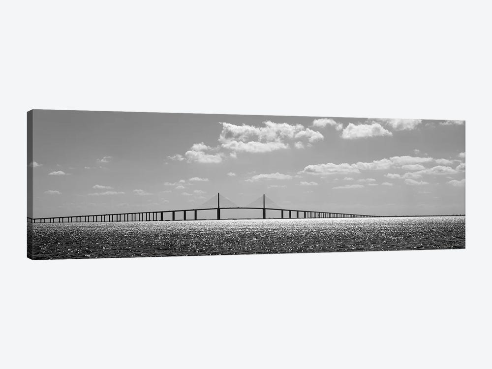 Bridge Across A Bay, Sunshine Skyway Bridge, Tampa Bay, Florida, USA 1-piece Canvas Art Print