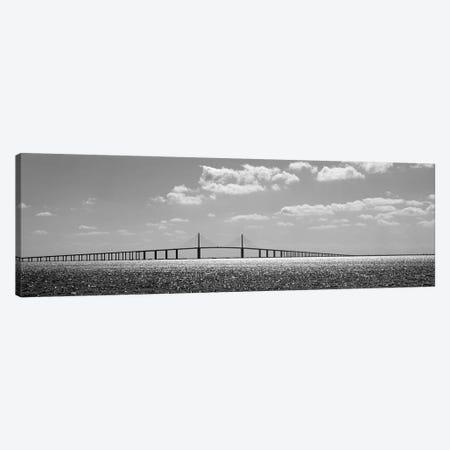 Bridge Across A Bay, Sunshine Skyway Bridge, Tampa Bay, Florida, USA Canvas Print #PIM15089} by Panoramic Images Canvas Art