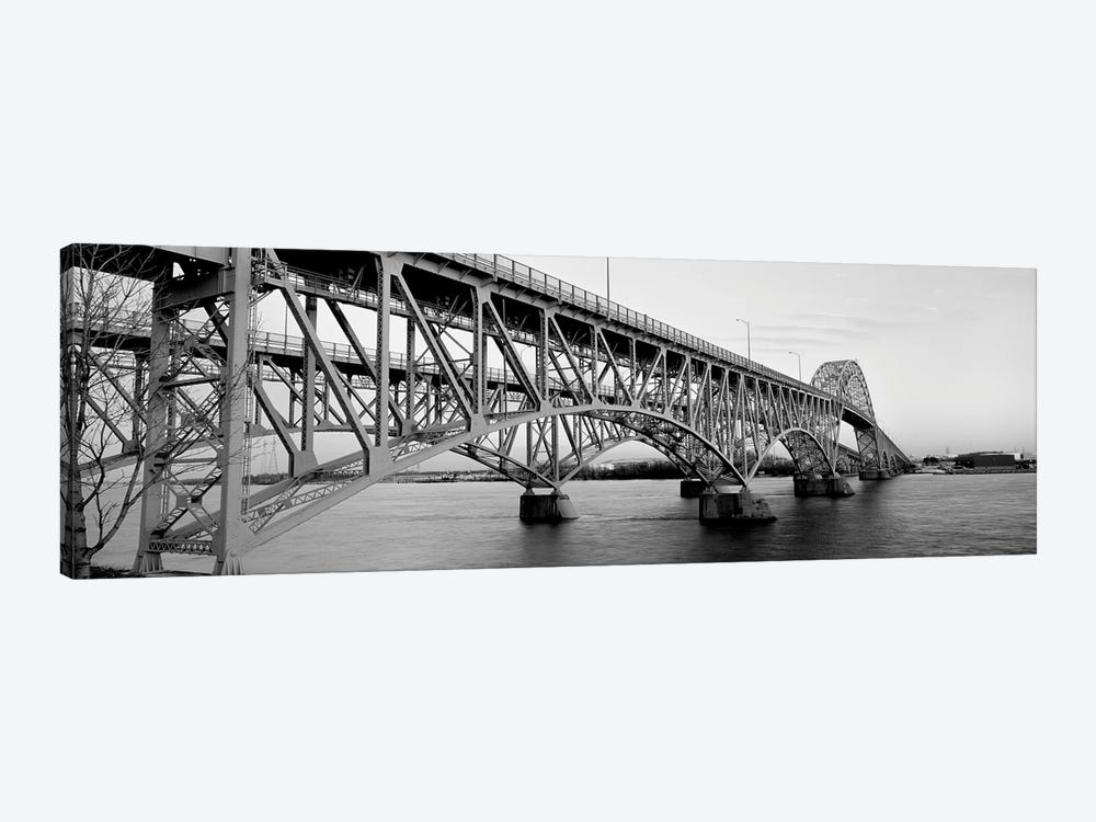Bridge Across A River, South Grand Island Bridge, Niagara River, Grand Island, Erie County, New York State, USA by Panoramic Images 1-piece Canvas Print