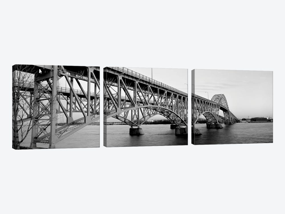 Bridge Across A River, South Grand Island Bridge, Niagara River, Grand Island, Erie County, New York State, USA by Panoramic Images 3-piece Canvas Art Print