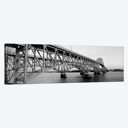 Bridge Across A River, South Grand Island Bridge, Niagara River, Grand Island, Erie County, New York State, USA 3-Piece Canvas #PIM15090} by Panoramic Images Canvas Art Print