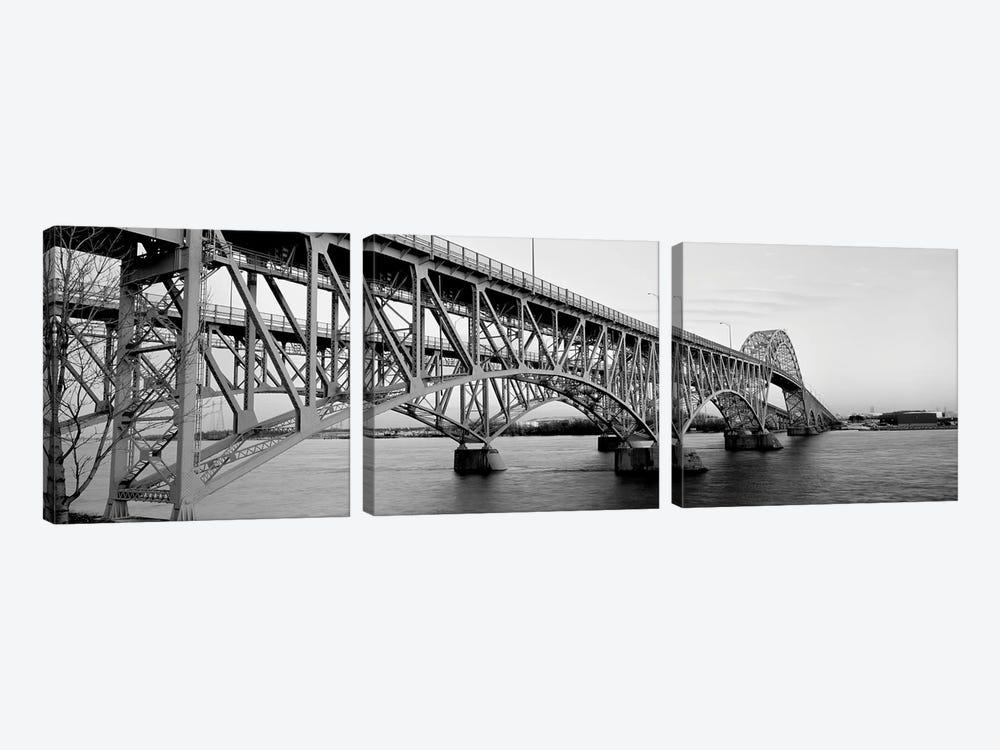 Bridge Across A River, South Grand Island Bridge, Niagara River, Grand Island, Erie County, New York State, USA by Panoramic Images 3-piece Canvas Art Print