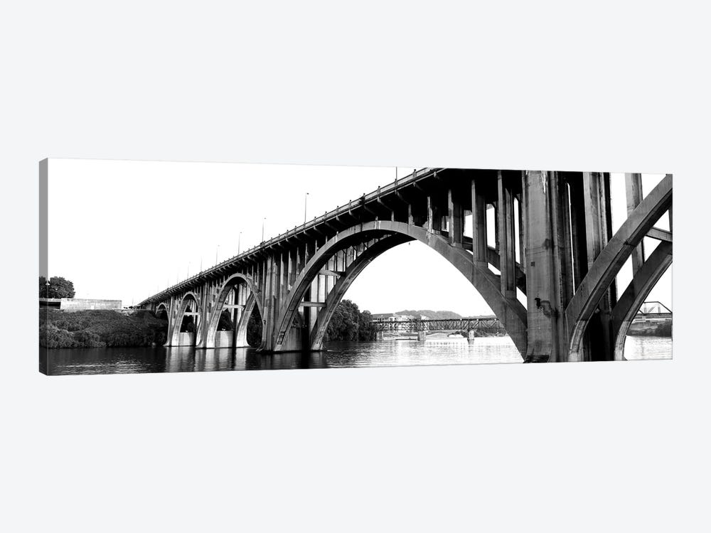 Bridge Across River, Henley Street Bridge, Tennessee River, Knoxville, Knox County, Tennessee, USA by Panoramic Images 1-piece Canvas Art