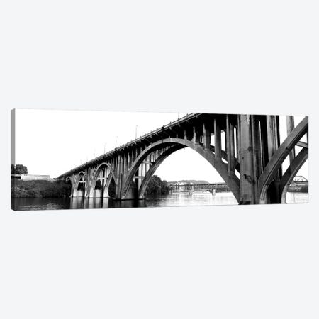 Bridge Across River, Henley Street Bridge, Tennessee River, Knoxville, Knox County, Tennessee, USA 3-Piece Canvas #PIM15091} by Panoramic Images Canvas Art Print
