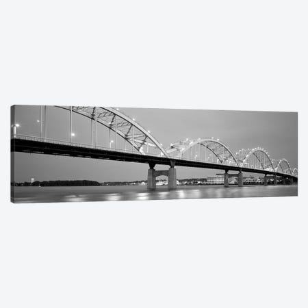 Bridge Over A River, Centennial Bridge, Davenport, Iowa, USA 3-Piece Canvas #PIM15094} by Panoramic Images Canvas Wall Art