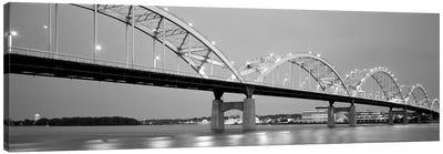 Bridge Over A River, Centennial Bridge, Davenport, Iowa, USA Canvas Art Print