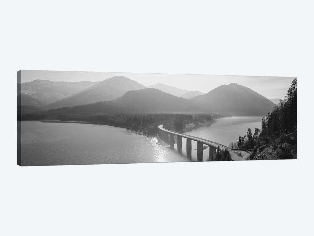 Bridge Over Sylvenstein Lake, Bavaria, Germany by Panoramic Images 1-piece Canvas Art