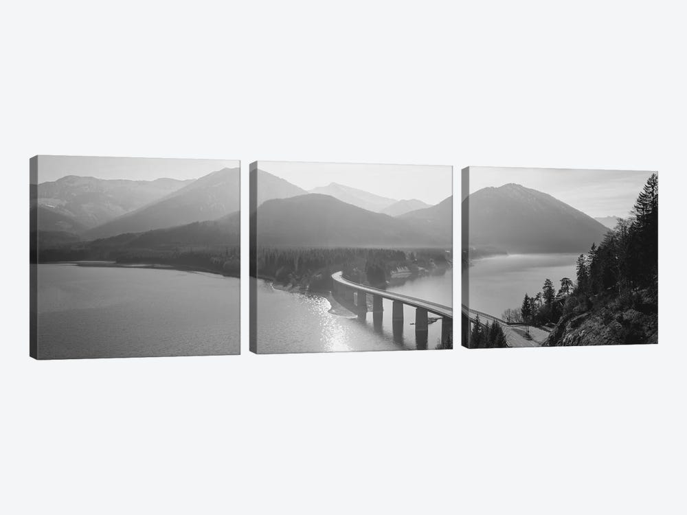 Bridge Over Sylvenstein Lake, Bavaria, Germany by Panoramic Images 3-piece Canvas Wall Art