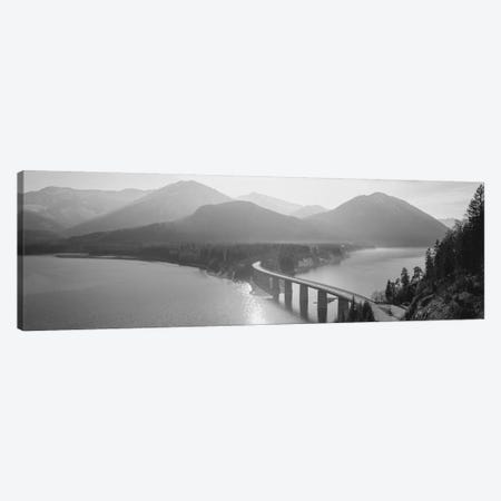 Bridge Over Sylvenstein Lake, Bavaria, Germany 3-Piece Canvas #PIM15095} by Panoramic Images Canvas Art