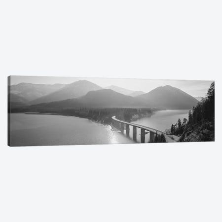 Bridge Over Sylvenstein Lake, Bavaria, Germany Canvas Print #PIM15095} by Panoramic Images Canvas Art