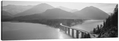Bridge Over Sylvenstein Lake, Bavaria, Germany Canvas Art Print