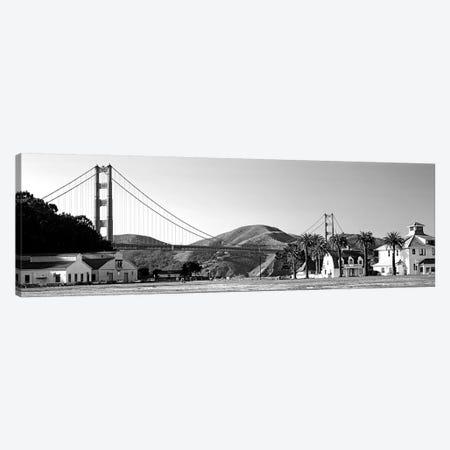 Bridge Viewed From A Park, Golden Gate Bridge, Crissy Field, San Francisco, California, USA 3-Piece Canvas #PIM15096} by Panoramic Images Canvas Artwork