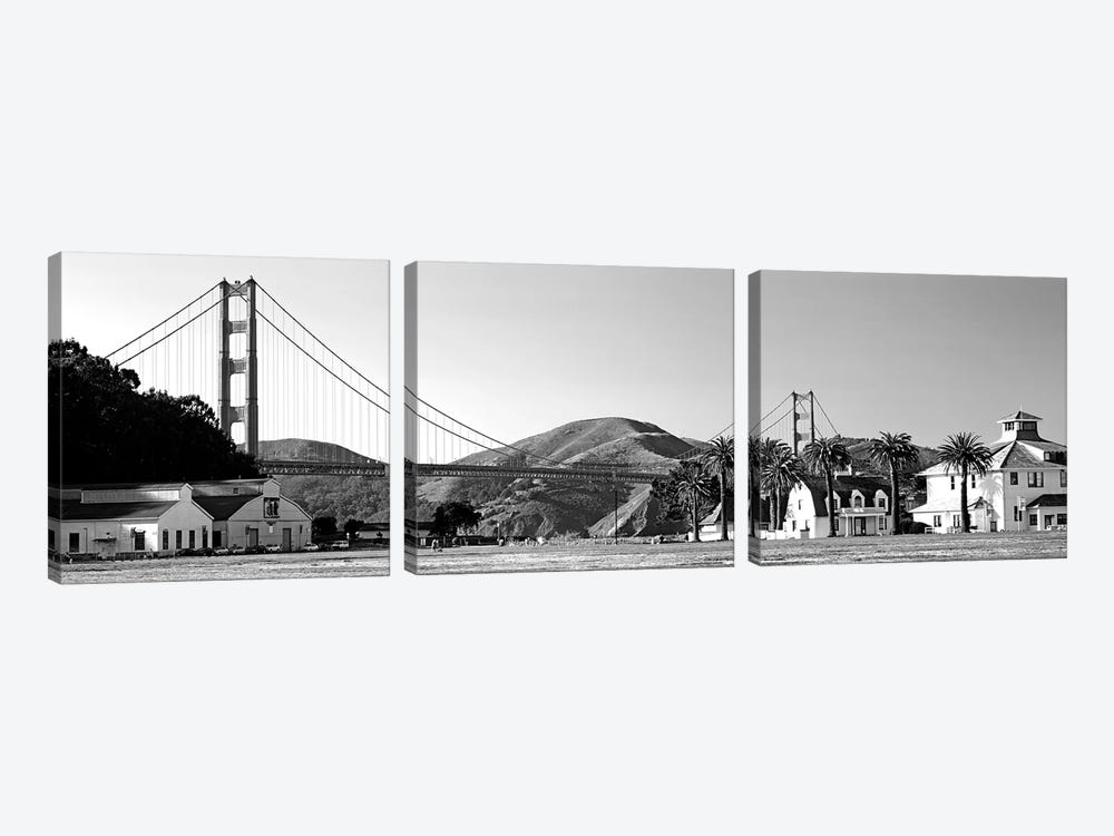 Bridge Viewed From A Park, Golden Gate Bridge, Crissy Field, San Francisco, California, USA by Panoramic Images 3-piece Art Print