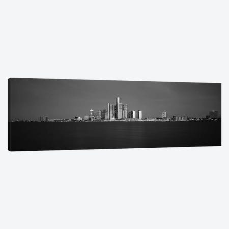 Buildings At Waterfront, Detroit, Michigan, USA Canvas Print #PIM15098} by Panoramic Images Canvas Print