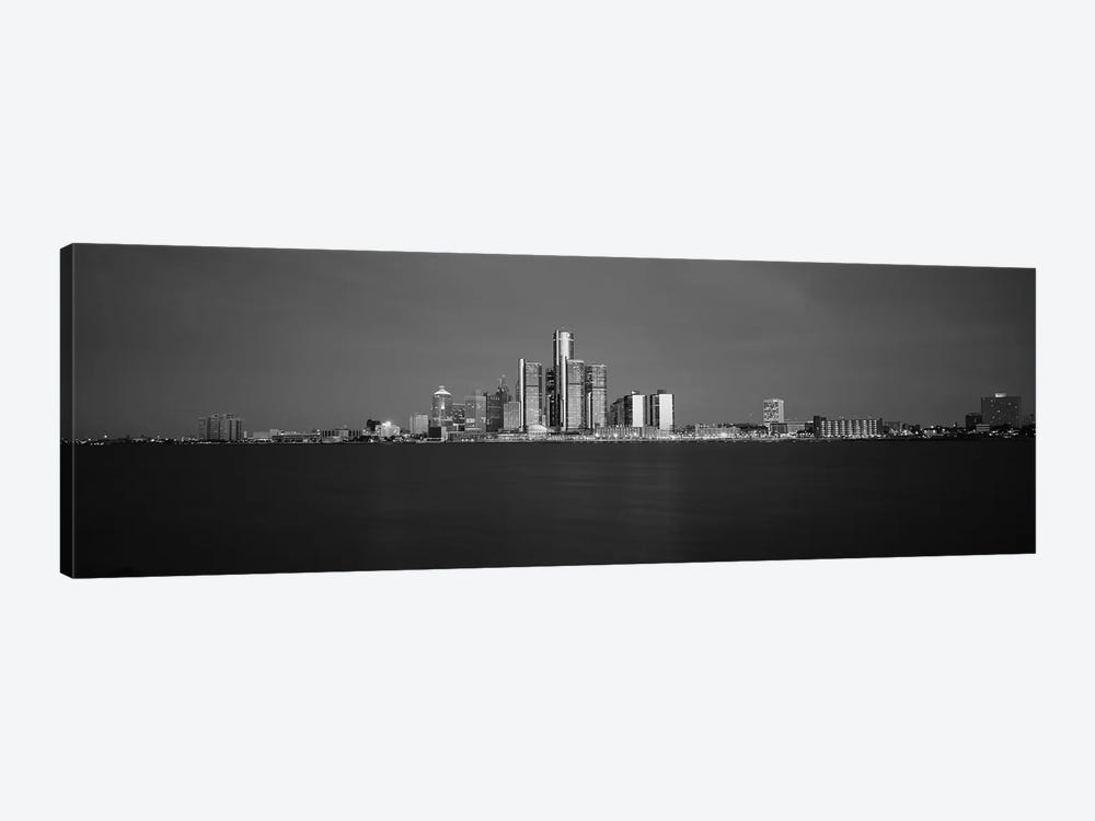 Buildings At Waterfront, Detroit, Michigan, USA by Panoramic Images 1-piece Canvas Print