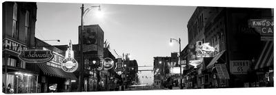 Buildings In A City At Dusk, Beale Street, Memphis, Tennessee, USA Canvas Art Print