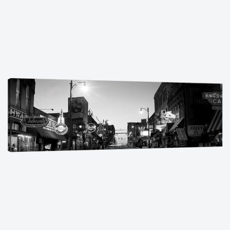 Buildings In A City At Dusk, Beale Street, Memphis, Tennessee, USA Canvas Print #PIM15099} by Panoramic Images Canvas Art Print