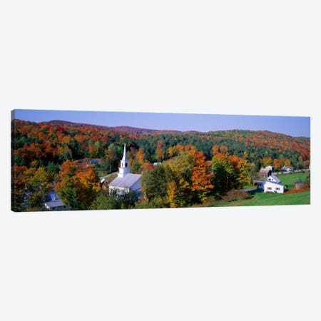 Autumn New England Landscape, Vermont, USA Canvas Print #PIM1509} by Panoramic Images Canvas Artwork