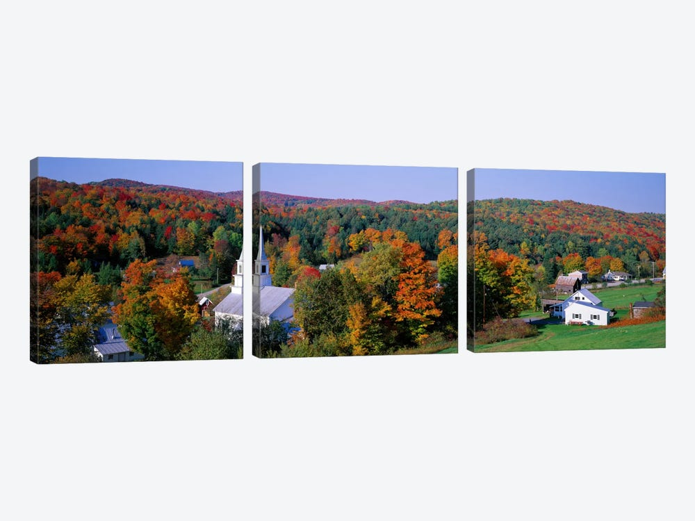 Autumn New England Landscape, Vermont, USA by Panoramic Images 3-piece Canvas Art Print