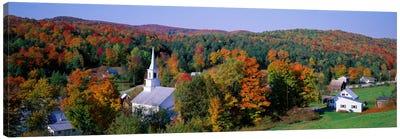 Autumn New England Landscape, Vermont, USA Canvas Art Print