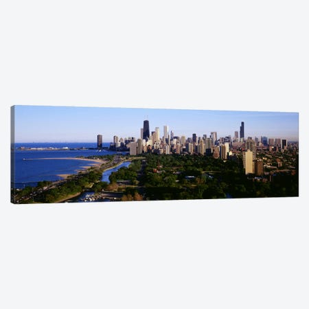 Aerial View of SkylineChicago, Illinois, USA Canvas Print #PIM150} by Panoramic Images Canvas Art