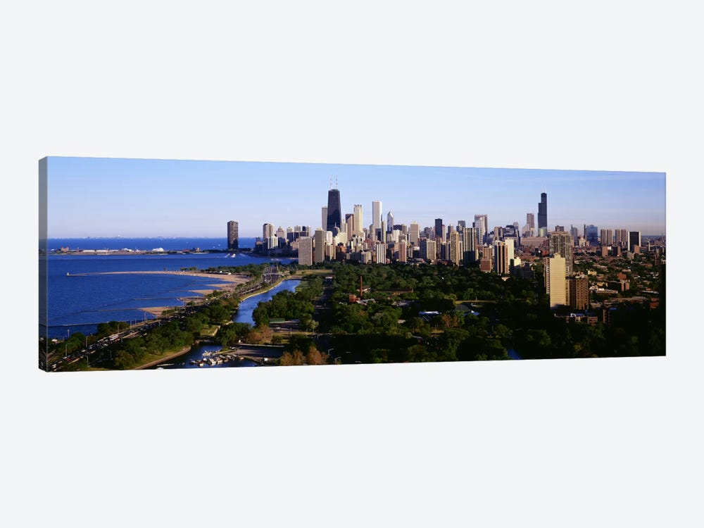 Aerial View of SkylineChicago, Illinois, USA by Panoramic Images 1-piece Canvas Artwork
