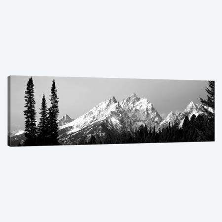 Cathedral Group Grand Teton National Park WY Canvas Print #PIM15108} by Panoramic Images Canvas Print
