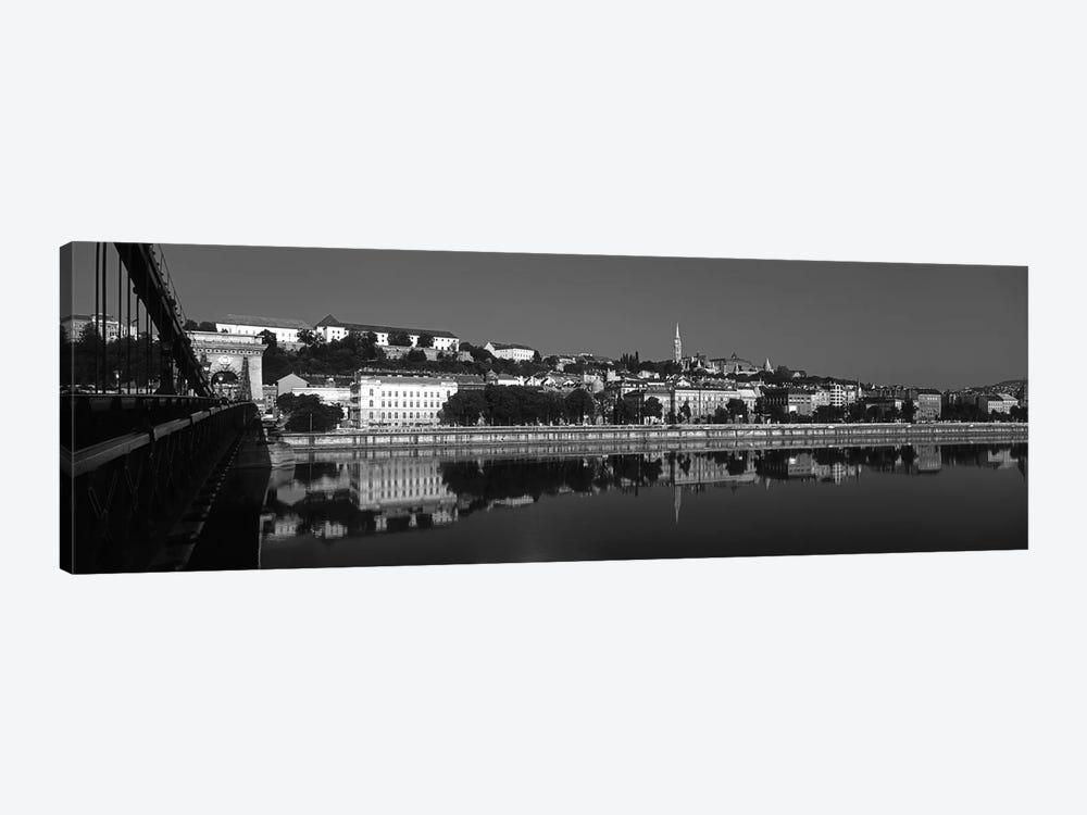 Chain Bridge Over Danube River, Budapest, Hungary by Panoramic Images 1-piece Canvas Artwork