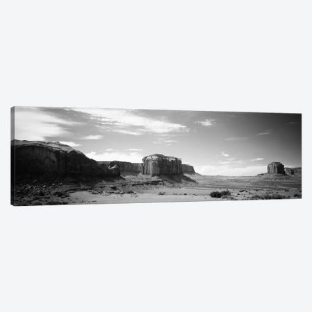 Desert Landscape In B&W, Monument Valley, Navajo Nation, USA Canvas Print #PIM1510} by Panoramic Images Canvas Art Print