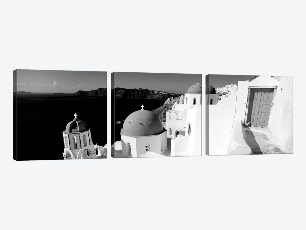 Church In A City, Santorini, Cyclades Islands, Greece by Panoramic Images 3-piece Canvas Art