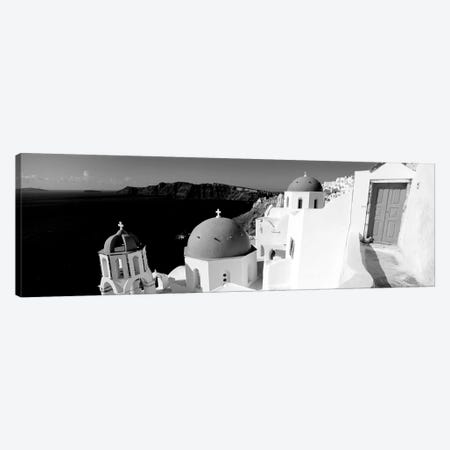 Church In A City, Santorini, Cyclades Islands, Greece 3-Piece Canvas #PIM15110} by Panoramic Images Canvas Art