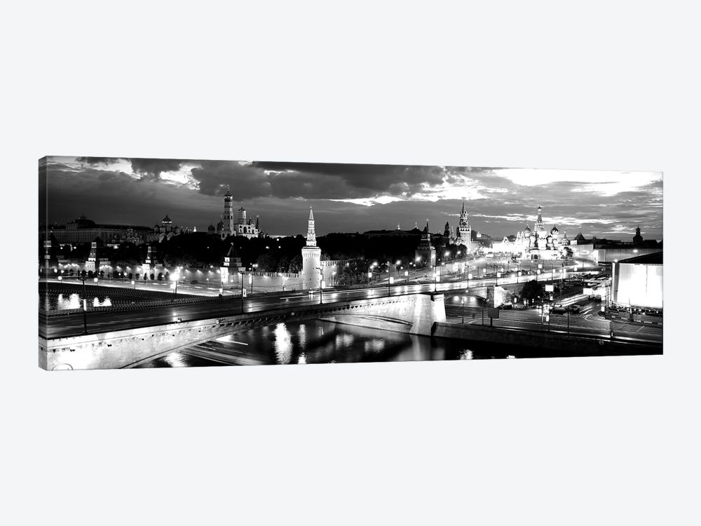 City Lit Up At Night, Red Square, Kremlin, Moscow, Russia by Panoramic Images 1-piece Art Print
