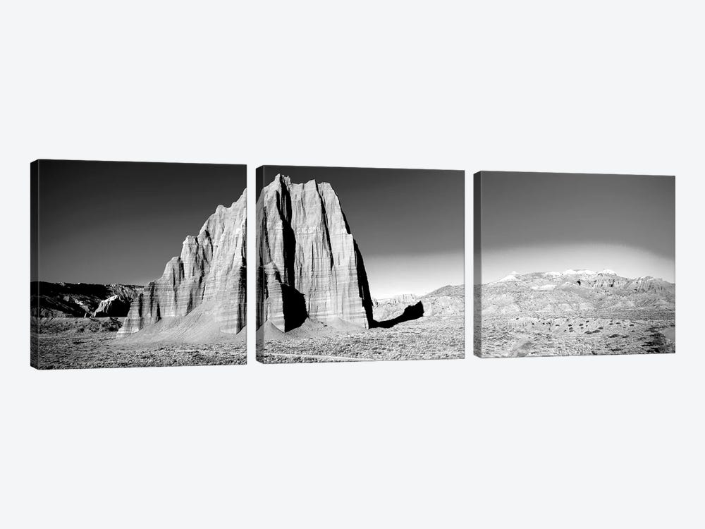 Cliff In Capitol Reef National Park Against Blue Sky, Utah, USA by Panoramic Images 3-piece Canvas Print