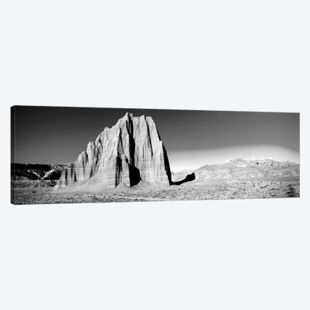 Cliff In Capitol Reef National Park Against Blue Sky, Utah, USA 3-Piece Canvas #PIM15113} by Panoramic Images Canvas Artwork