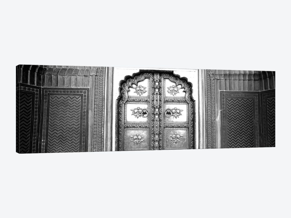Close-Up Of A Closed Door Of A Palace, Jaipur City Palace, Jaipur, Rajasthan, India by Panoramic Images 1-piece Canvas Artwork