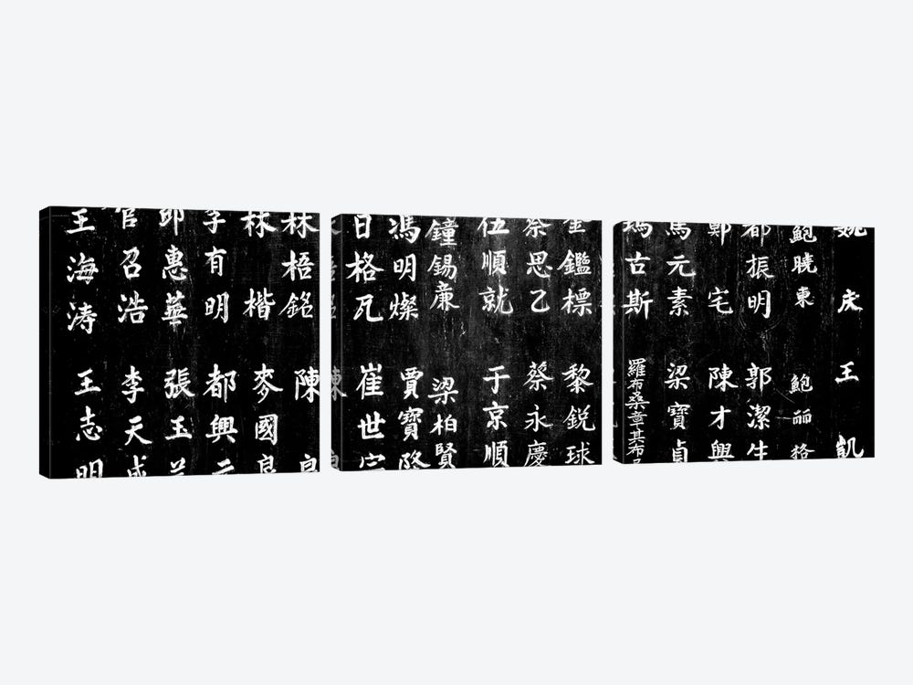 Close-Up Of Chinese Ideograms, Beijing, China by Panoramic Images 3-piece Art Print