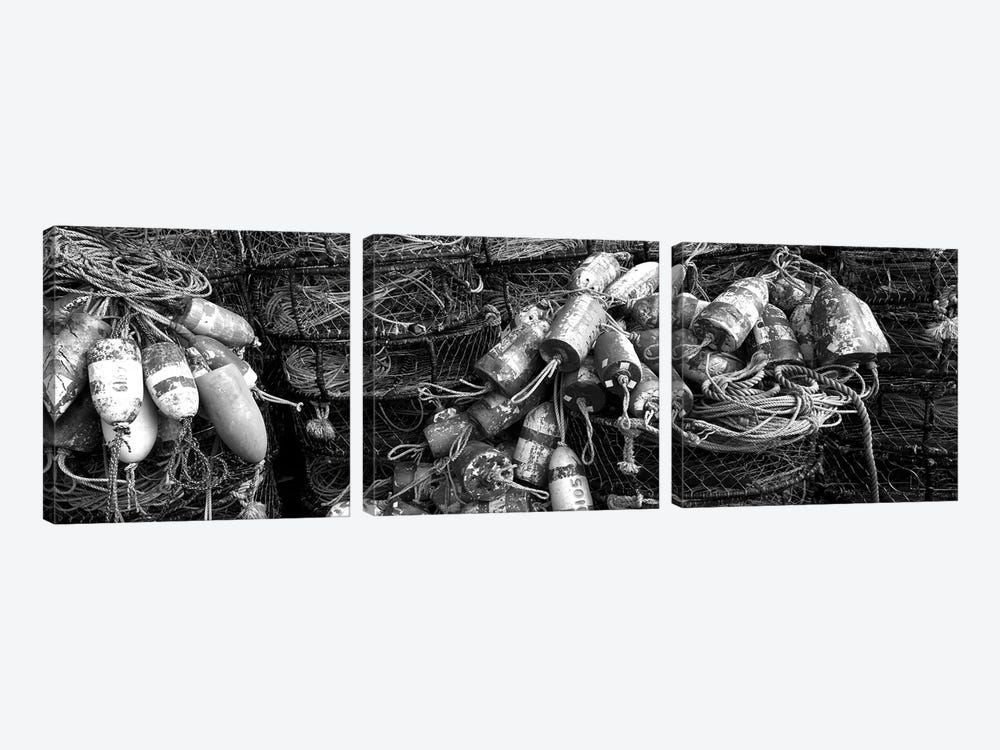 Close-Up Of Crab Pots, Humboldt County, California, USA by Panoramic Images 3-piece Canvas Artwork