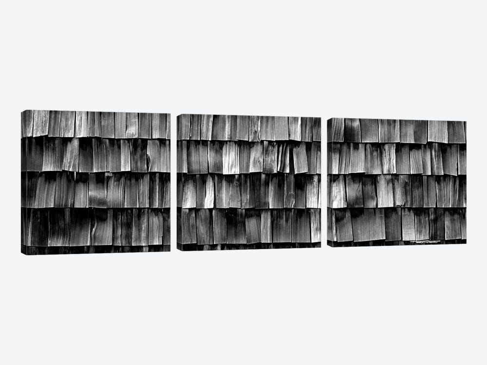 Close-Up Of Wooden Shingle, La Conner, Washington State, USA by Panoramic Images 3-piece Canvas Artwork