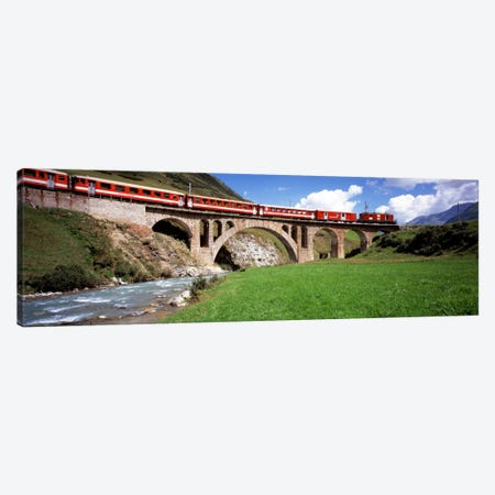 Train Travelling Along Furka-Oberalp Railway, Andermatt, Switzerland Canvas Print #PIM1511} by Panoramic Images Canvas Art Print