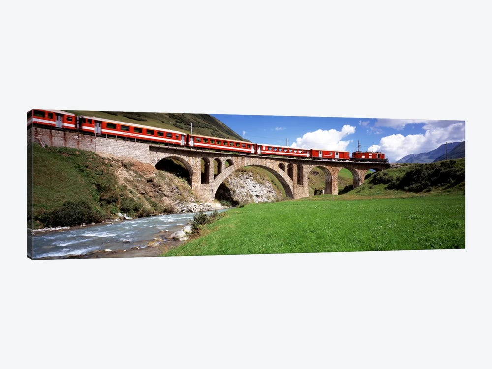 Train Travelling Along Furka-Oberalp Railway, Andermatt, Switzerland by Panoramic Images 1-piece Canvas Artwork