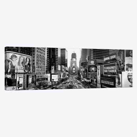 Dusk, Times Square, NYc, New York City, New York State, USA Canvas Print #PIM15123} by Panoramic Images Art Print