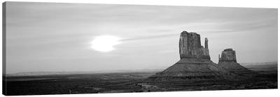 East Mitten And West Mitten Buttes At Sunset, Monument Valley, Utah, USA Canvas Art Print