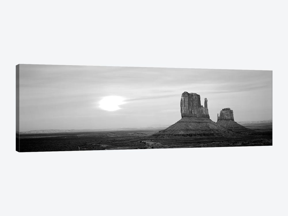 East Mitten And West Mitten Buttes At Sunset, Monument Valley, Utah, USA by Panoramic Images 1-piece Canvas Print